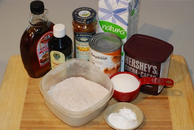 Ingredients Pumpkin Apricot Brownies with Chocolate PB2 Icing / Gluten-Free, Oil-Free, Vegan