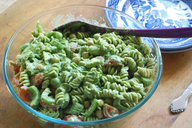 Pesto Sauce and a Pasta Salad / Gluten-Free, Low-Fat, Oil-Free, Vegan