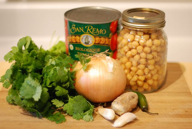 Ingredients for Chana Masala