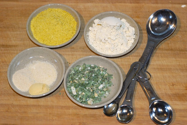 Measured dry ingredients