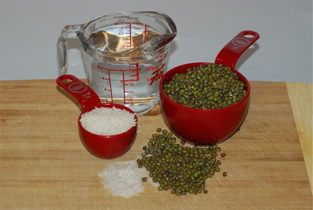 Ingredients for Mung Bean Crepes