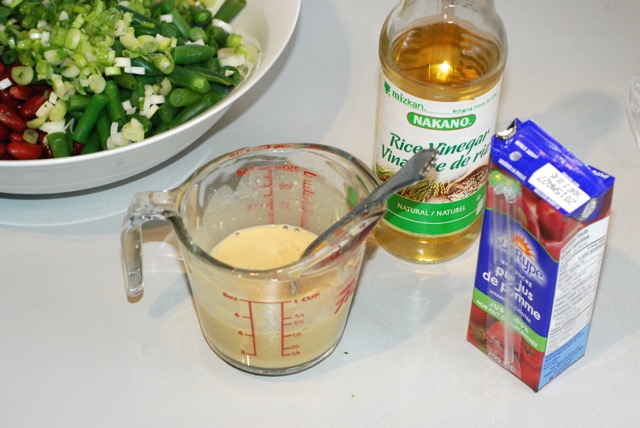 Mix together the dressing ingredients