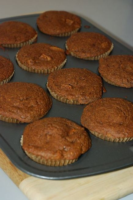 Muffin tray with Gingerbread Muffins / Gluten-Free, Low-Fat, Vegan