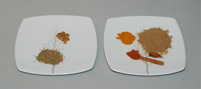 Spices for Mushroom and Pea Masala with Tofu Paneer