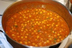 Chana Masala in the pot