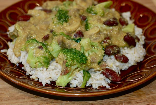 Kidney Bean and Broccoli Curry / Oil-Free, Vegan ready for a satisfying lunch