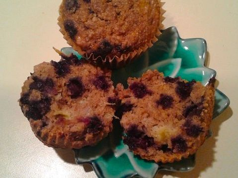 Blueberry Lemon Muffins / Fat-Free, Gluten-Free, Soy-Free, Vegan
