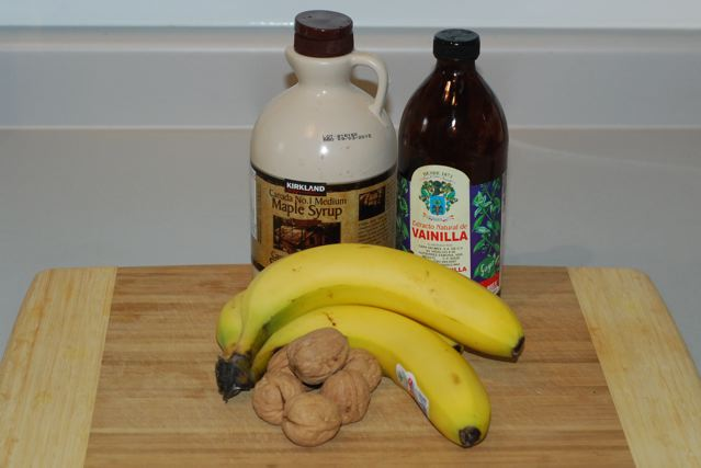 Ingredients for Maple Walnut Banana Ice Dream