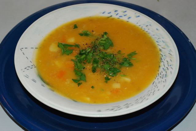 Creamy Carrot parsnip Soup with Ginger and Fennel
