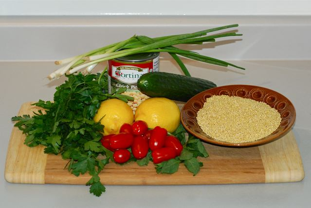 Ingredients for Millet Tabouleh
